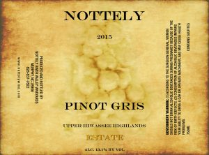 Nottely Wine Pinot Gris
