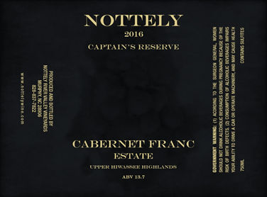 2016 Cabernet Franc Estate     - Nottely River Valley Vineyards