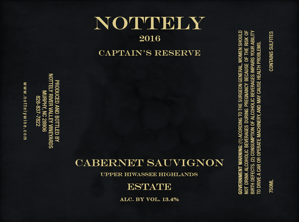 Nottely Wine 2016 Limited Release Cabernet Sauvignon